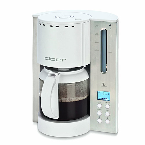 Cloer 5238NA 12-Cup Bitterness Eliminating Coffee Maker, Stainless Steel/White - Coffee, Tea and Espresso Kitchen Appliances