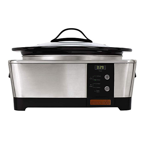 Crock Pot SCCPTP600-S 6 Quart Stainless Steel Oval Slow Cooker at Sears.com