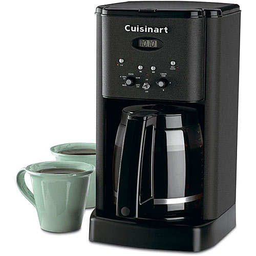 gifts and gadgets store - Cuisinart DCC-1200BW Matte Black Metal 12-cup Brew Central Programmable Coffeemaker - Coffee, Tea and Espresso - Kitchen Appliances