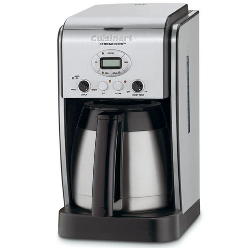 Cuisinart Extreme Brew DCC-2750 Brewer - Programmable - 10 Cup(s) - Coffee Strength Setting - Silver - Stainless Steel, Charcoal, ABS Plastic 221567563
