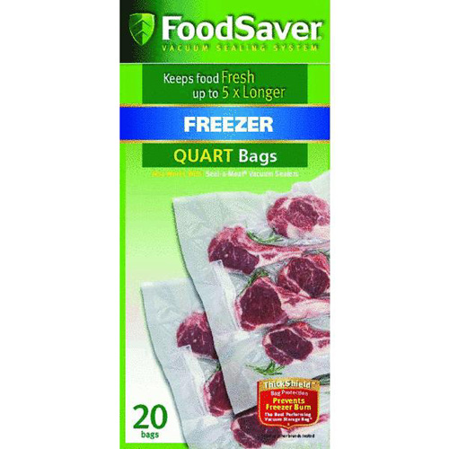 FoodSaver FSFSBF0216-015 8 X 11-Inch 1-Quart Sealer Bags, 20-Count - Vacuum Food Sealers Kitchen Appliances