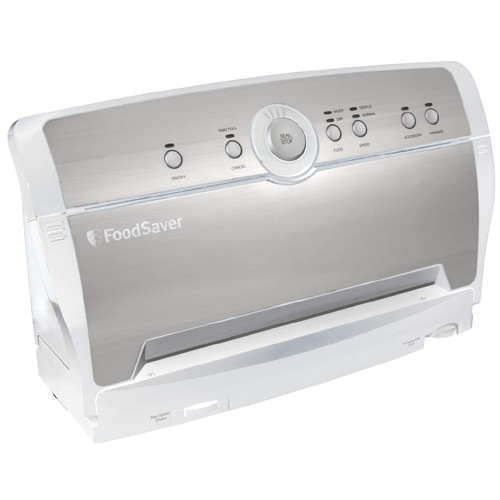Foodsaver V3817 Vertical Vacuum Food Sealer Packaging System Stainless White - Vacuum Food Sealers Kitchen Appliances