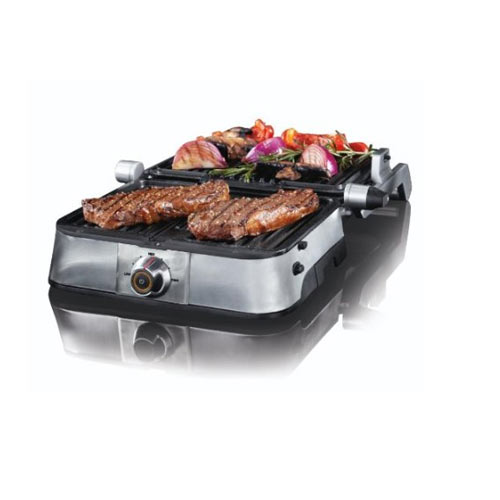 VillaWare NDVLPAPFS1 Non-Stick Stainless Panini Grill Large Dial Control