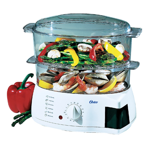 Oster 5711 Mechanical 6-Quart Instant Food Steamer and Cooker - Crock Pots and Slow Cookers Kitchen Appliances