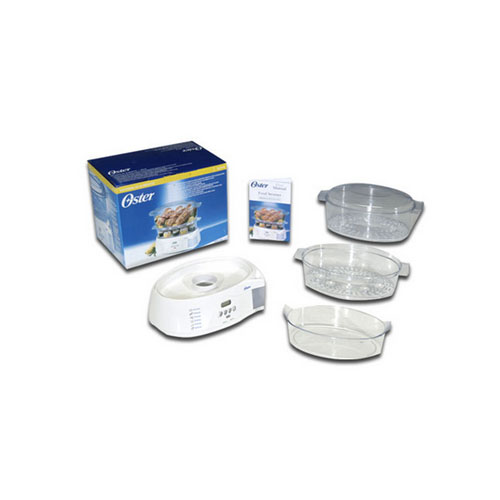 Electronic Food Steamer ~ Oster electronic lcd automatic tier quart food