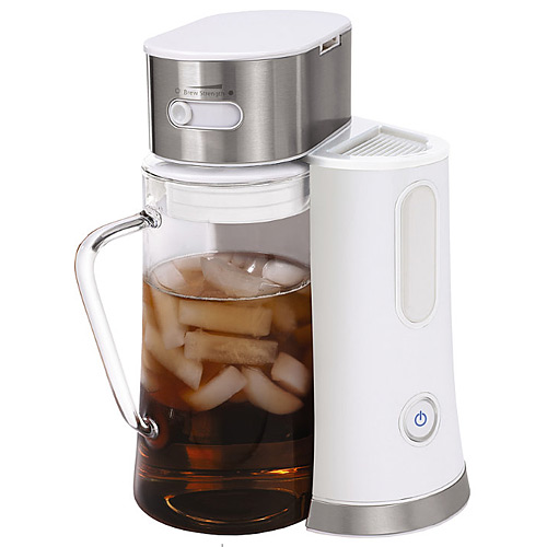 Oster BVST-TM24 2.5 Quart Iced Tea Maker Brewer White / Stainless - Coffee, Tea and Espresso Kitchen Appliances