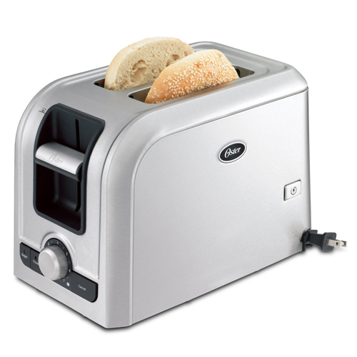 Oster TSSTRTS2S1 2-Slice Toaster, Brushed Stainless Steel - Ovens and Toasters Kitchen Appliances