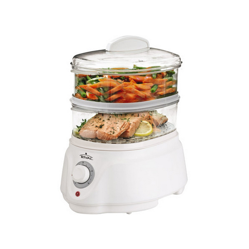 Sunbeam Electric Vegetable Steamer ~ Rival ckrvstlm double stack tier vegetable steamer ebay