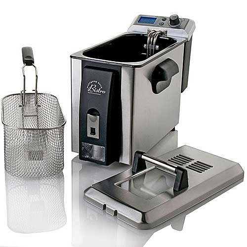 gifts and gadgets store - Wolfgang Puck BDFR0060 Bistro Electric 4 Liter Deep Fryer with Oil Drain - Indoor Grills, Griddles and Fryers - Kitchen Appliances