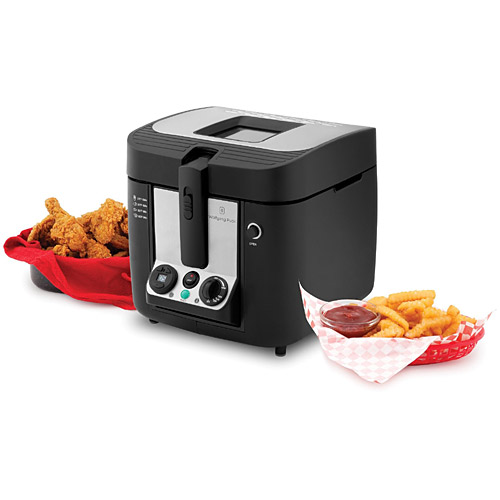 Wolfgang Puck BDFR0070 Bistro 3-Liter Cool-Touch Deep Fryer - Indoor Grills, Griddles and Fryers Kitchen Appliances