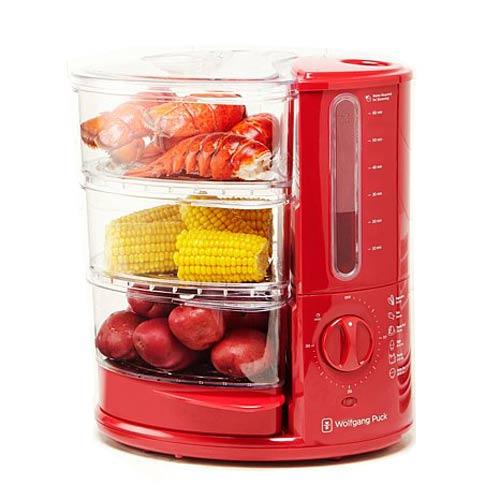 Wolfgang Puck BERFS010R 1400-Watt 3-Tier Rapid Food Steamer Red | eBay