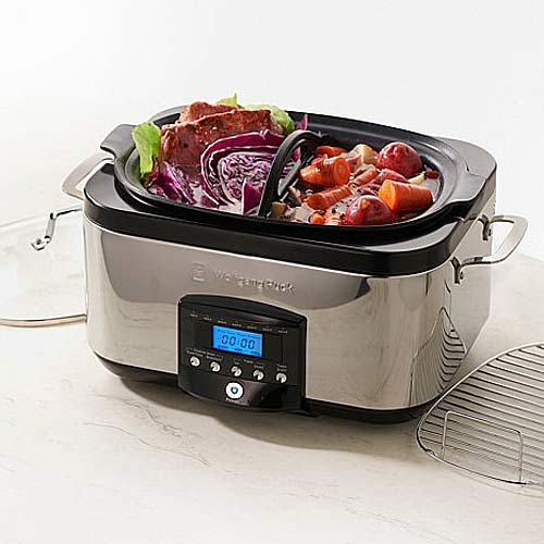 Wolfgang Puck BESC0030 6qt 1350-Watt Gourmet VersaCooker with Dual Heat Elements - Crock Pots and Slow Cookers Kitchen Appliances