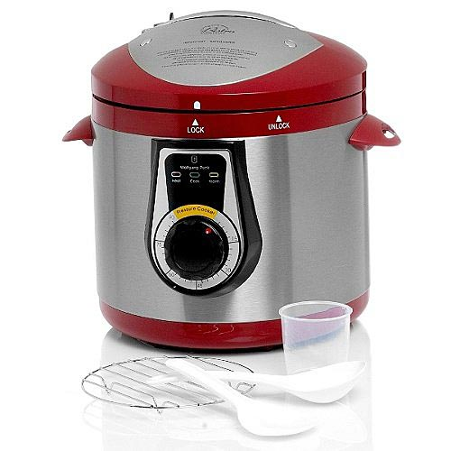 Wolfgang Puck BPCRM045R Elite Heavy Duty 7 Qt Electric Pressure Cooker - Red - Crock Pots and Slow Cookers Kitchen Appliances