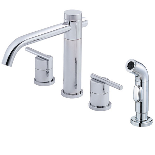 Danze D414458 Parma Two Handle Kitchen Sink Faucet with Sprayer Chrome