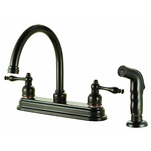 Design House 527499 Saratoga Kitchen Faucet With Sprayer Oil Rubbed Bronze Ebay