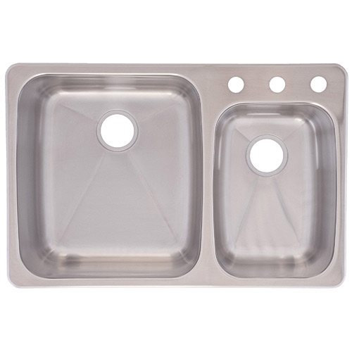 Franke Sinks Price List : Franke USA C2233R/9 Dualmount Double Bowl Kitchen Sink, Stainless ...