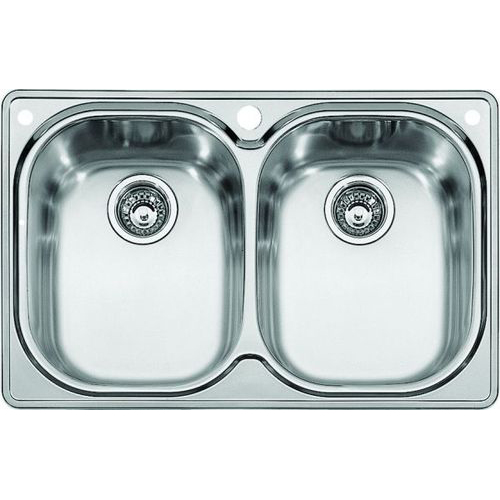 Franke CPX620 Compact Double Bowl Drop In Kitchen Sink Stainless Steel