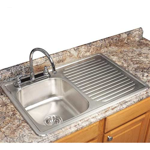 about Franke USA FDBS703BX Single-Bowl Kitchen Sink w/ Drain Board ...