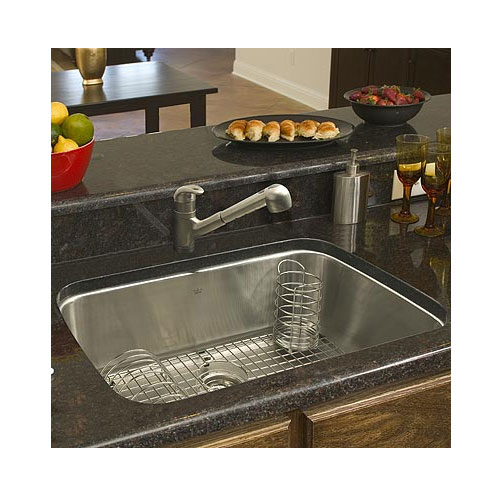 Oversized Sinks Kitchen : Franke USA Large Single Bowl Stainless Steel Undermount Kitchen Sink ...