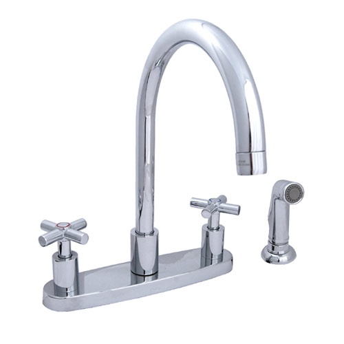 moen 87300 chrome two handle kitchen faucet with spray ebay