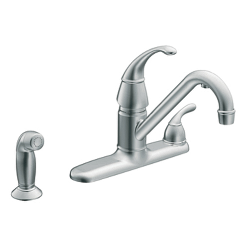 Moen CAF87254 Wickston Low Arc Filtering Kitchen Faucet Polished Chrome