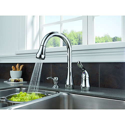 Peerless Kitchen Faucets: Peerless P188102LF SD Pull Down Kitchen Faucet W Soap
