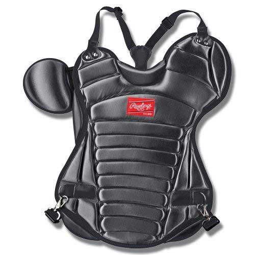 gifts and gadgets store - The Rawlings RCP-B Black Adult Size 17 inch Pro Series Black Chest Protector - Baseball and Softball - Outdoor Sports