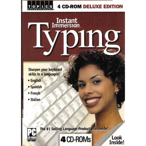 Learn to Type Instant Immersion Typing 4-CD (Spanish Box)