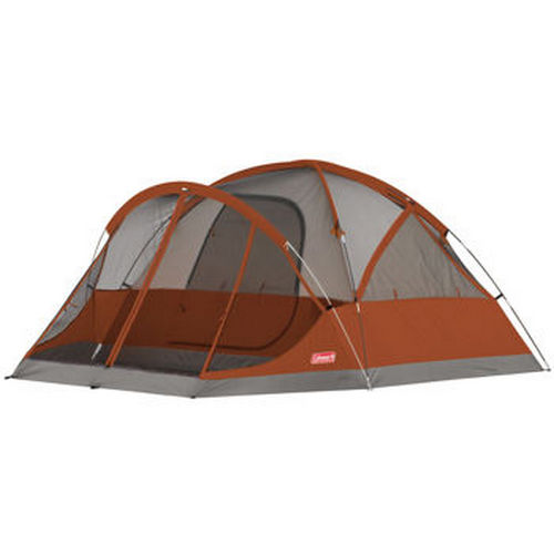 Coleman 2000010637 4-Person Red Screened Evanston Tent