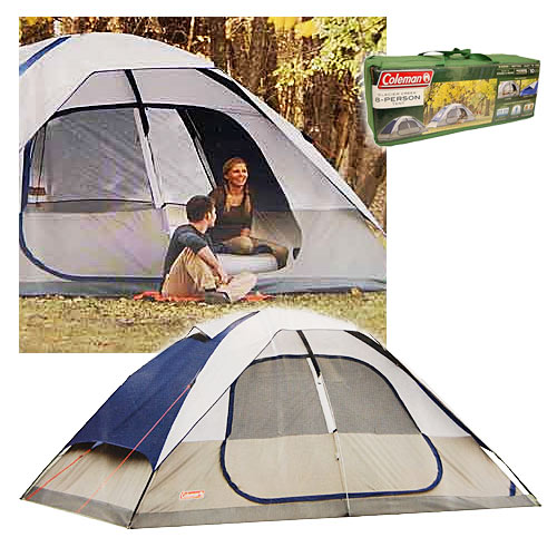 Coleman 2000006233 Glacier Creek 14' x 10' 8 Person 2 Room Camping Tent - Camping and Hiking Outdoor Sports