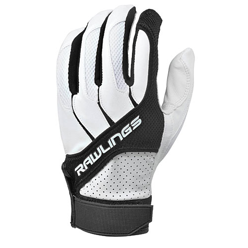 Rawlings BGP1150T-B-89 Adult Batting Gloves in Black, Size Medium - Baseball and Softball Outdoor Sports