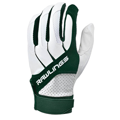 Rawlings BGP1150T-DG-88 Adult Batting Gloves Dark Green, Size Small - Baseball and Softball Outdoor Sports