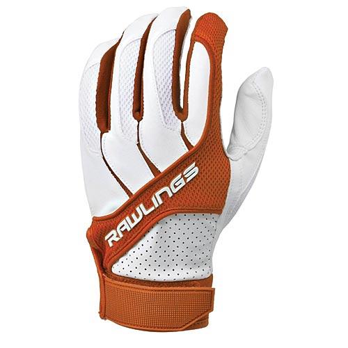 Rawlings BGP1150T-O-88 Adult Batting Gloves Orange, Size Small - Baseball and Softball Outdoor Sports