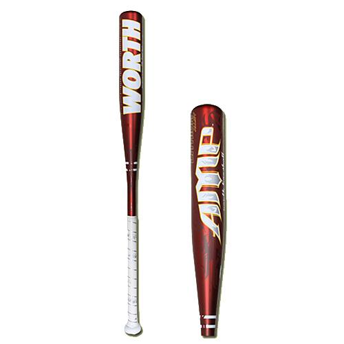 "Worth YBAMPL Lithium Amp Little League Baseball Bat 30"" / 17 oz - Baseball and Softball Outdoor Sports"