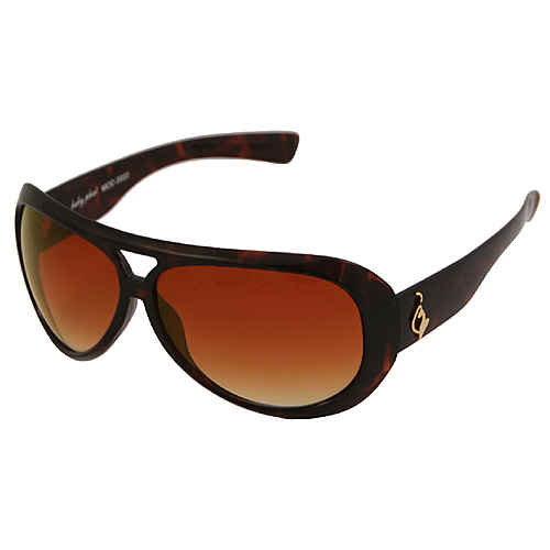 Baby Phat 2022 Brown Plastic Aviator Sunglasses - Baby Phat Sunglasses Fashion