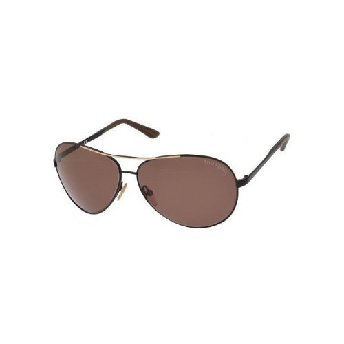Tom Ford Charles Aviator Sunglasses Black/Brown FT0035-0B5