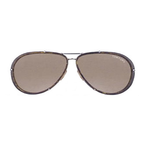 Tom Ford Cyrille Aviator Sunglasses Ruthenium/Green FT0109 14P