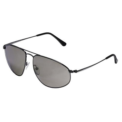 Tom Ford Nicholai Aviator Sunglasses Shiny Gunmetal FT0189-08L