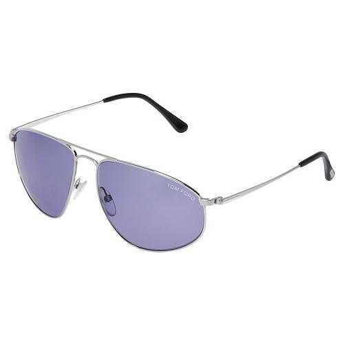 Tom Ford Nicholai Aviator Sunglasses Blue Violet FT0189-16V