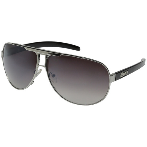 Guess GU 6591 SI-35A Men's Silver Frame Aviator Sunglasses