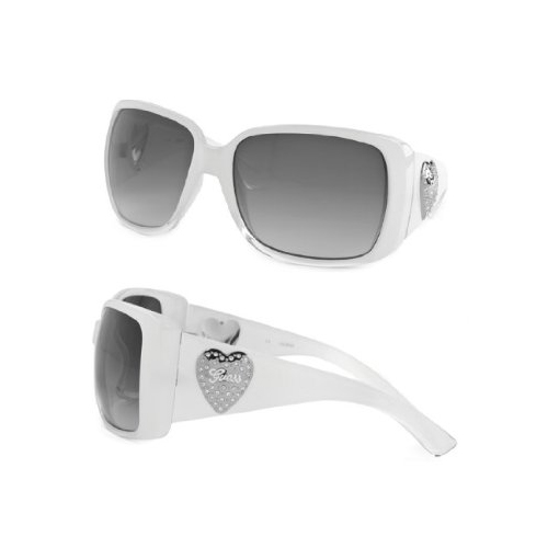 Guess 7092 Womens White Oversize Designer Sunglasses at Sears.com