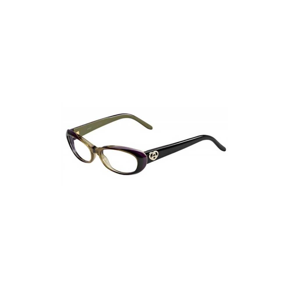 Gucci Womens Eyeglasses 3515 WO9/17 Plastic Cat Eye Brown ...