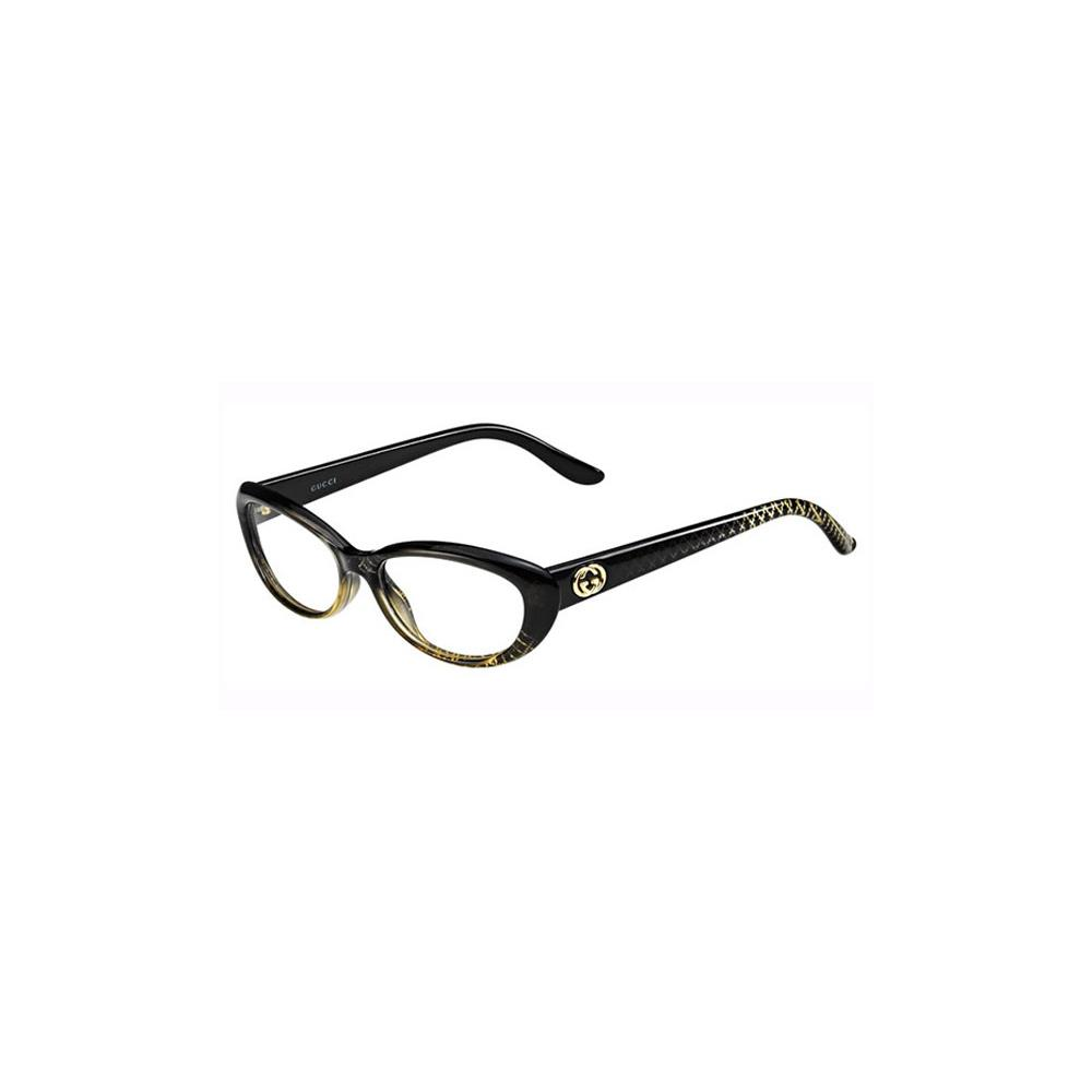 Gucci Ladies Eyeglass Frames : Gucci Womens Eyeglasses 3566 W8H/16 Plastic Oval Black ...