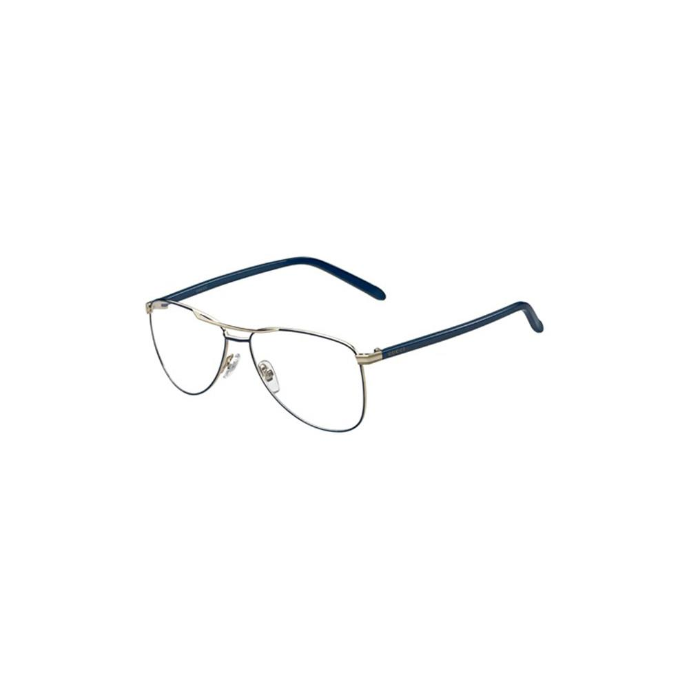 Gucci Ladies Eyeglass Frames : Gucci Womens Eyeglasses 4218 L1B/14 Metal Aviator Blue ...
