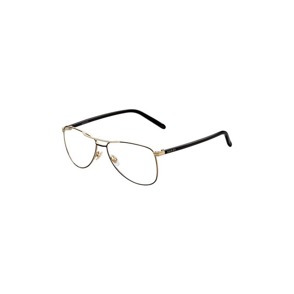 Gucci Womens Eyeglasses 4218 WRU/14 metal Aviator Black ...