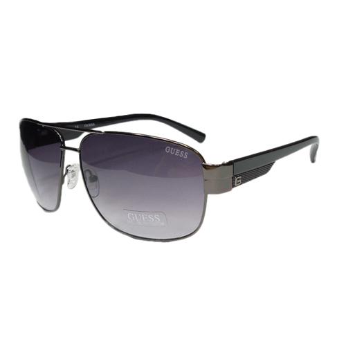 Guess GUF 127 GUN-35A Men's Aviator Sunglasses, Gunmetal Frame Grey Lens