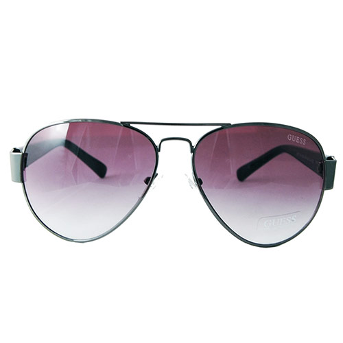 Guess Guf  Gun A Men S Aviator Designer Gunmetal Frame Sunglasses