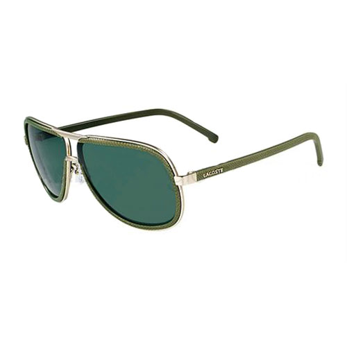 Lacoste L111S 714 Metal Aviator Sunglasses Green / Satin Gold