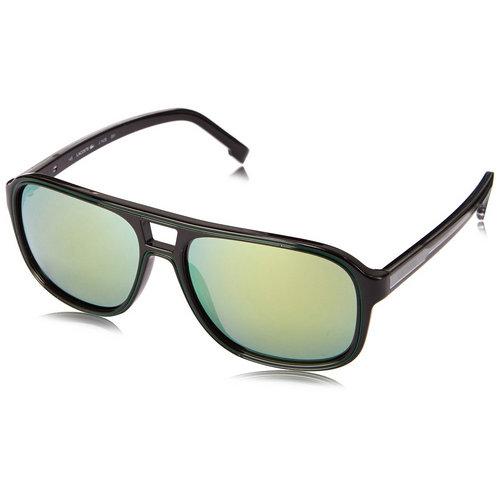 Lacoste L742S-001 Men's Black Rounded Square Plastic Sunglasses