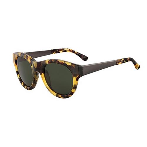 Michael Kors M2483S 281 Quinn Wayfarer Tokyo Tortoise Sunglasses, Green Lens